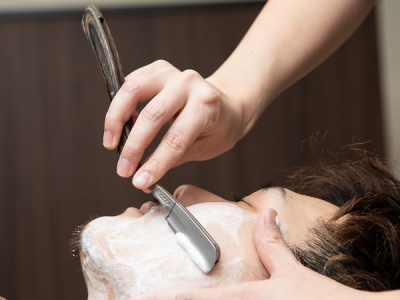 メンズシェービング、顔剃り